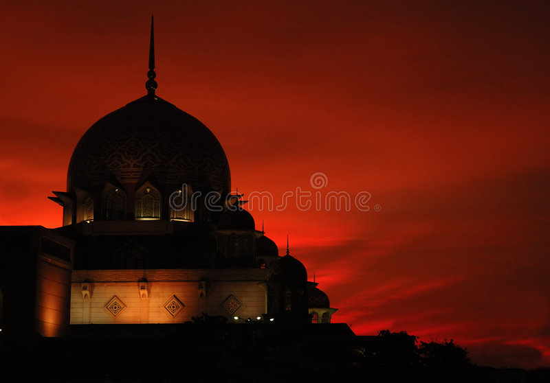 Sillhouette of a mosque II royalty free stock photo