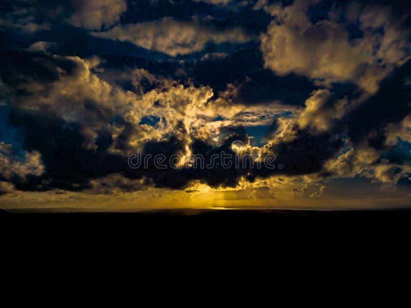 Sillouette krajobraz obraz stock