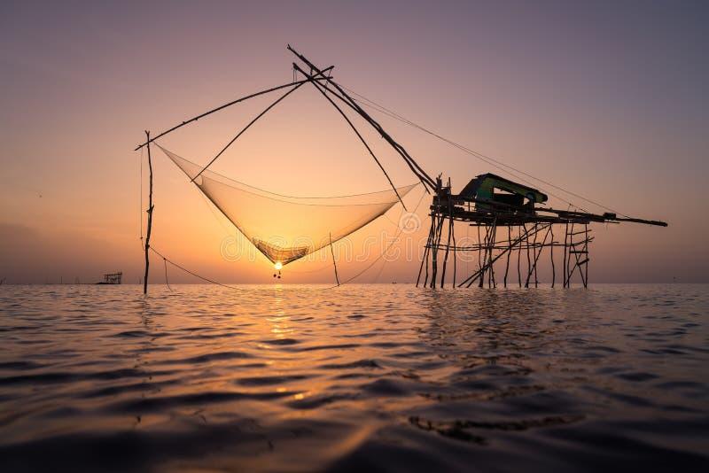 YOK YOR Sillouette sunset in Pattalung royalty free stock photos