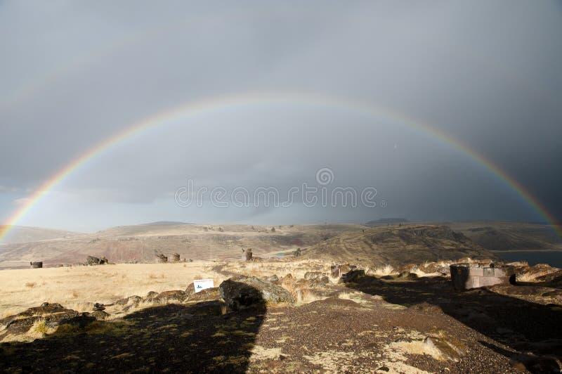 SillustaniBegraafplaats - Peru stock fotografie