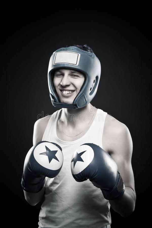 Download Silly boxer stock image. Image of young, dark, strength - 28633215