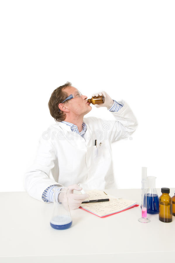Download Silly Chemist stock photo. Image of safety, silly, erlenmeyer - 14349346