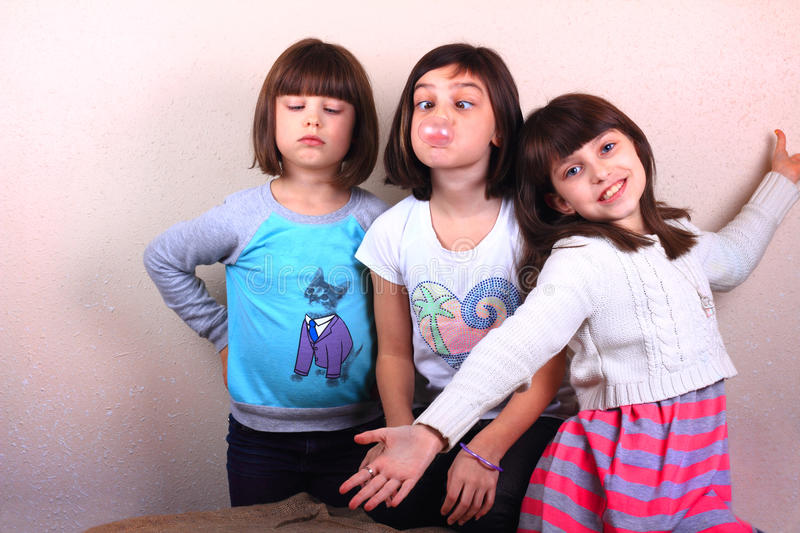 Silly Girls Playtime royalty free stock photography