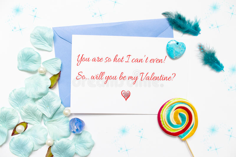 Silly love declaration royalty free stock photography