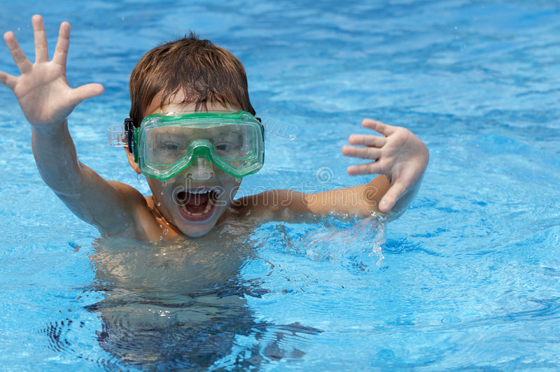 Silly pool royalty free stock image