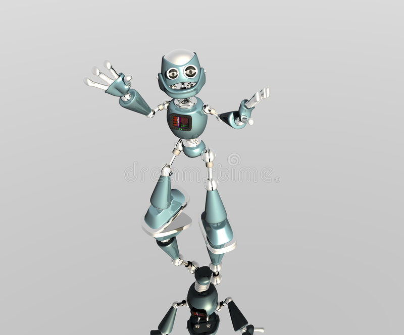 Silly Robot Stock Images