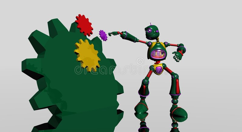 Download Silly robot with gears stock illustration. Image of silly - 4263181