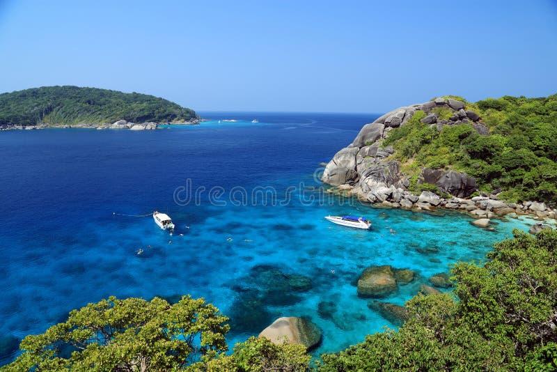 Silmilan海岛顶视图  库存图片