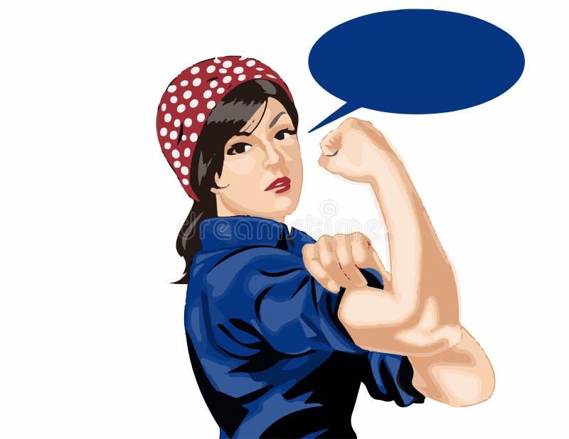 silna kobieta ilustracja wektor
