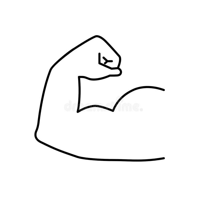 Silna mięsień ikona Ręka mięśnia wektor ilustracji