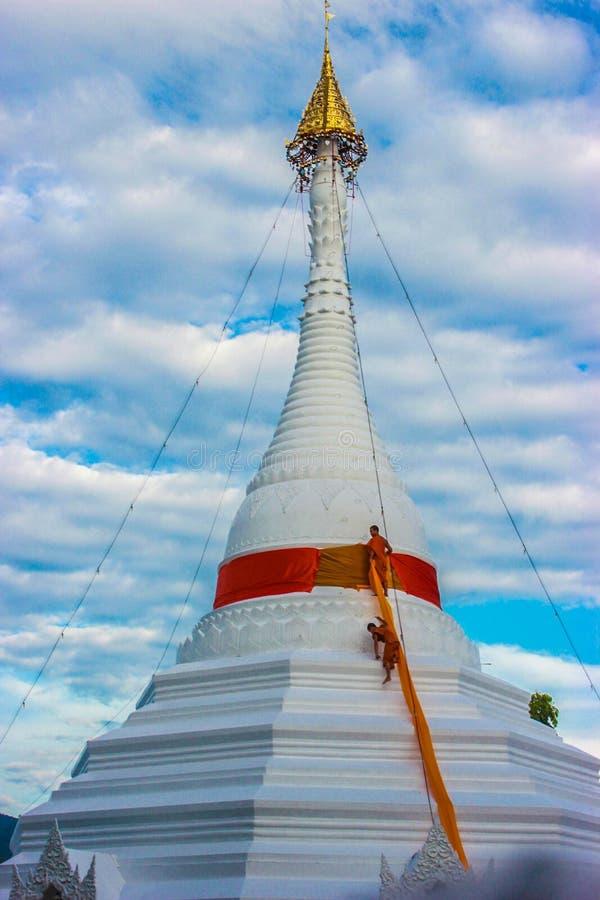 Silna wiara buddyści obrazy royalty free