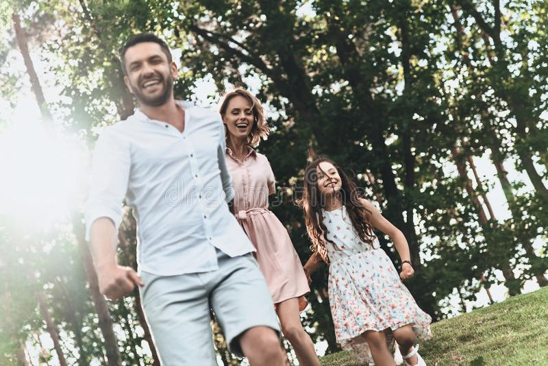 Silne rodzinne więzi obrazy royalty free