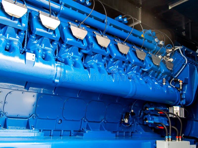 Silnik CHP jednostka Oleju napędowego i gazu przemysłowy elektryczny generator zdjęcia royalty free