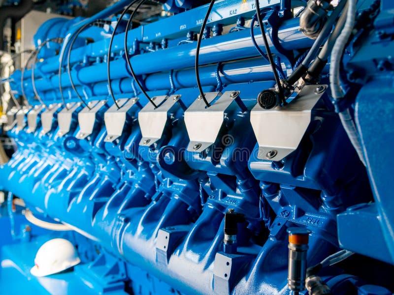 Silnik CHP jednostka Oleju napędowego i gazu przemysłowy elektryczny generator zdjęcie royalty free