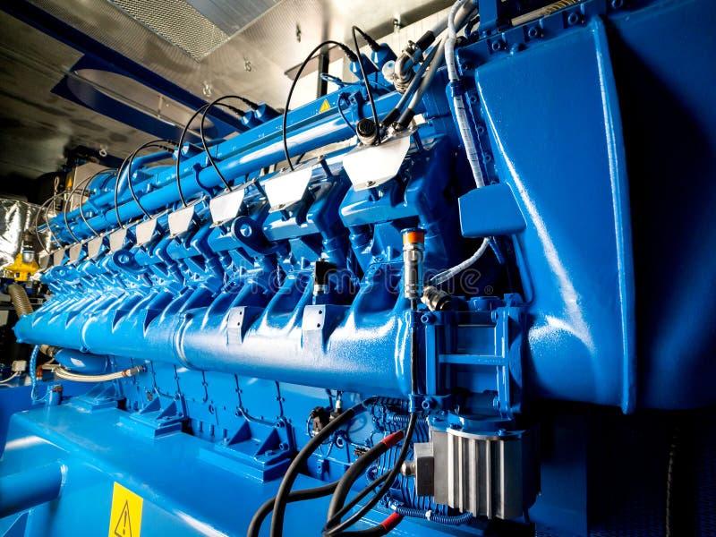 Silnik CHP jednostka Oleju napędowego i gazu przemysłowy elektryczny generator obrazy stock