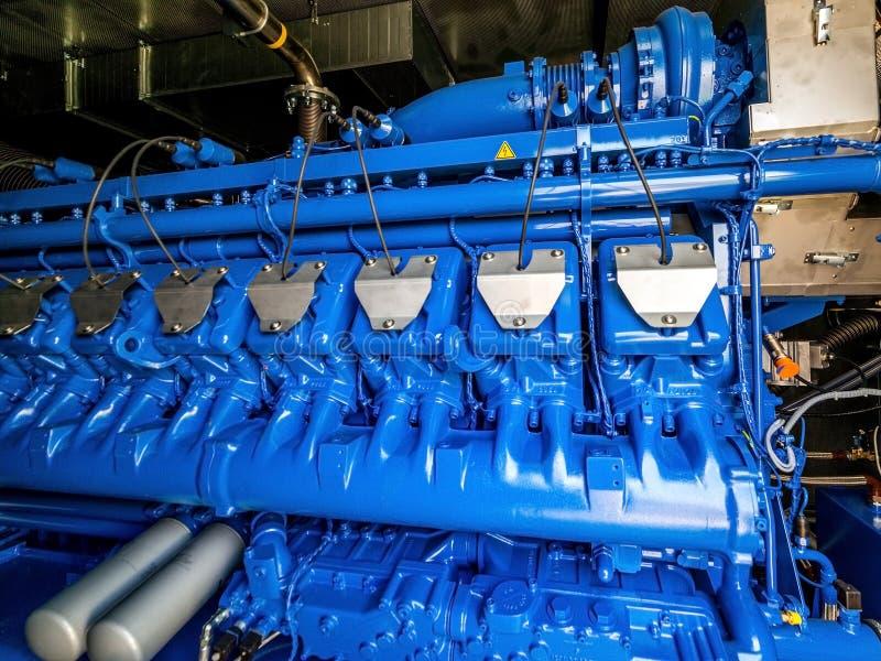 Silnik CHP jednostka Oleju napędowego i gazu przemysłowy elektryczny generator obraz stock