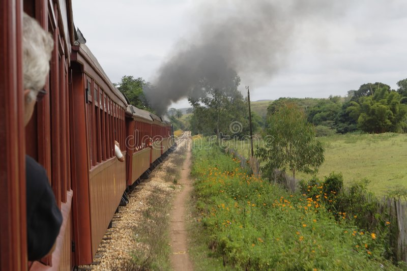 silnik pary pociąg obrazy stock