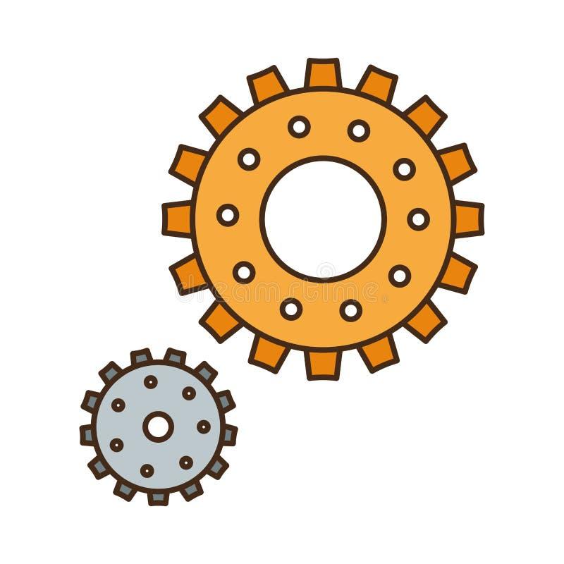 Silnik przekładni odosobniona ikona ilustracji