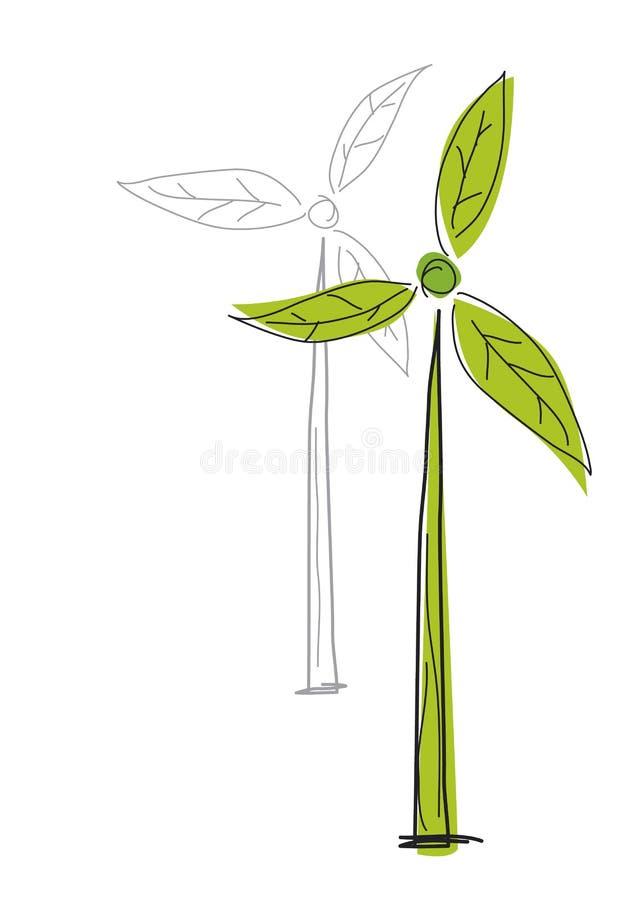Silnik wiatrowy ilustracja wektor
