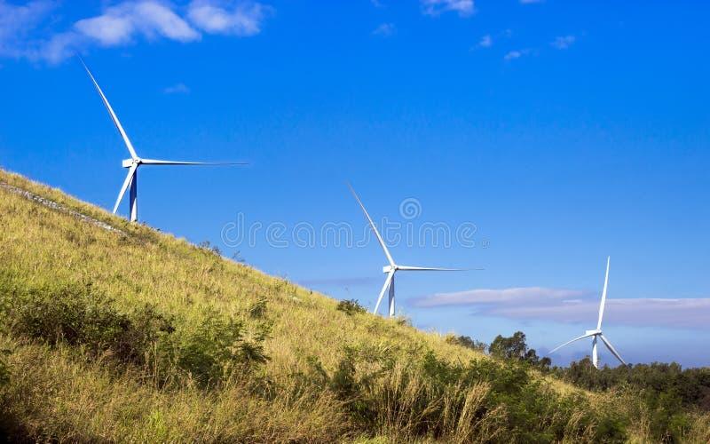 Silnik wiatrowy energetyczna władza obrazy royalty free