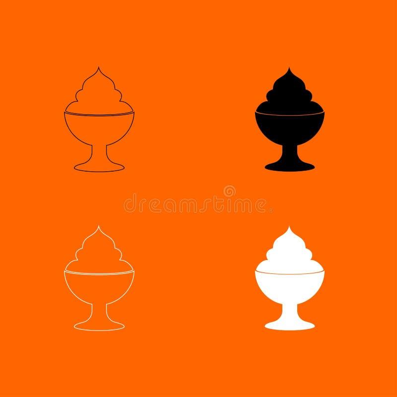 Silnik wiatrowy ikona Ja jest czarny i biały setem ilustracja wektor