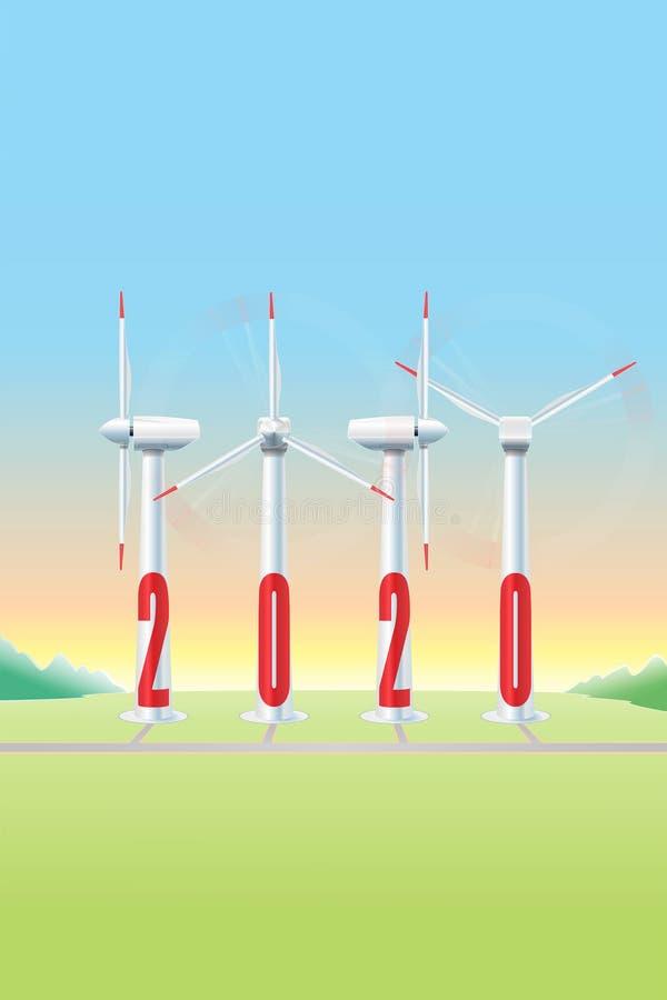 2020 silnik wiatrowy - JAK â€' Aerogerador zdjęcia royalty free