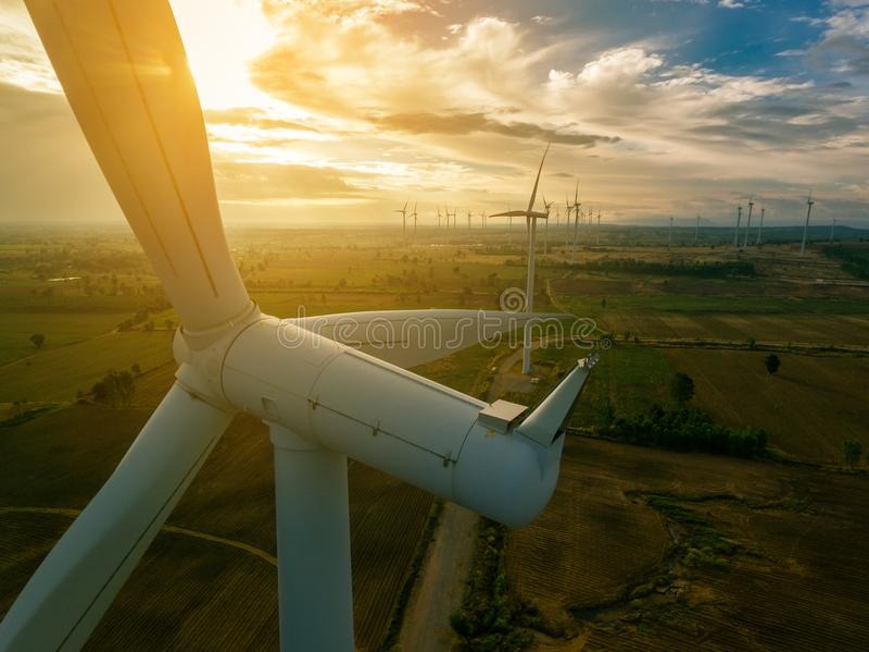 Silnik Wiatrowy, Wiatrowej energii pojęcie zdjęcia royalty free