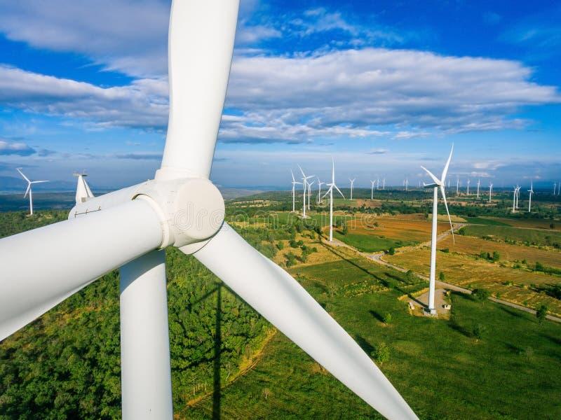 Silnik Wiatrowy, Wiatrowej energii pojęcie zdjęcie stock