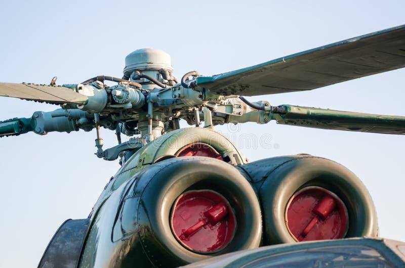 Silnik z ostrzami śmigła śmigłowcowego zdjęcie royalty free