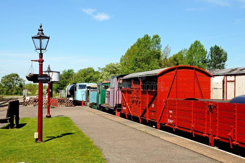 Silniki Diesla i furgony, Brownhills Zachodni obraz stock