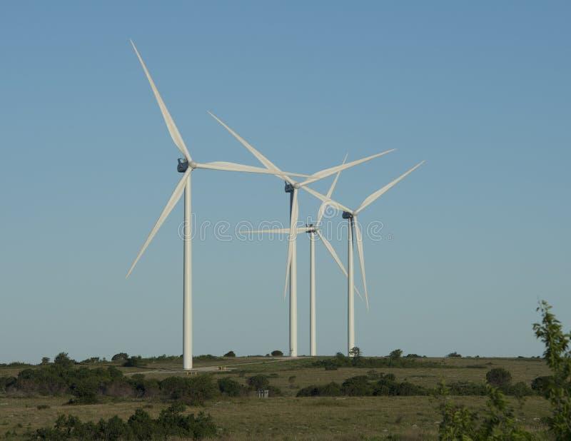 Silniki wiatrowi, Arbuckle Halny Wiatrowy gospodarstwo rolne zdjęcia royalty free