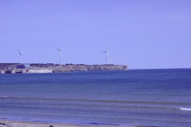 Silniki wiatrowi na wybrzeżu 3544 obraz stock