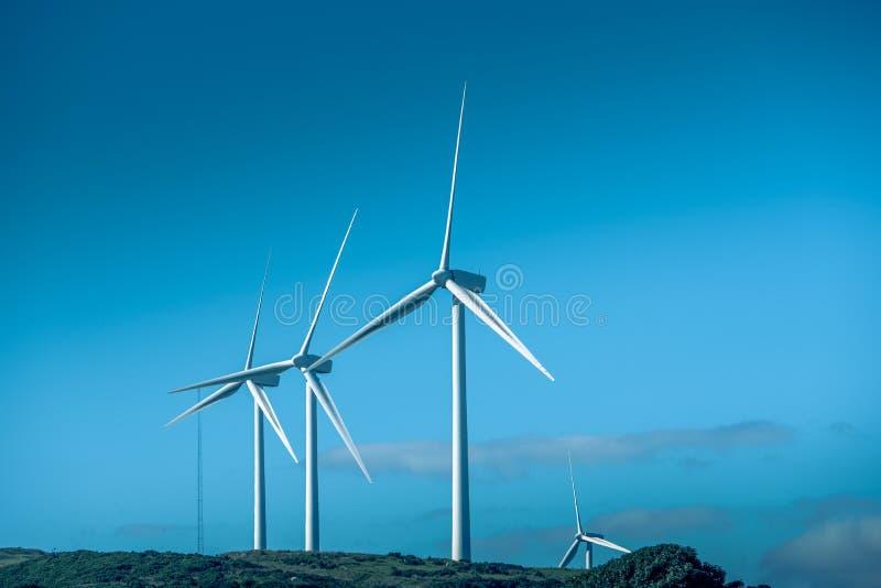 Silniki Wiatrowi w Szkocja blisko Ardrossan jako Szkocki rząd przygotowywają dla Brexit zdjęcie stock
