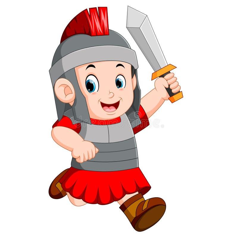 Silny żołnierz imperium rzymskie ilustracja wektor