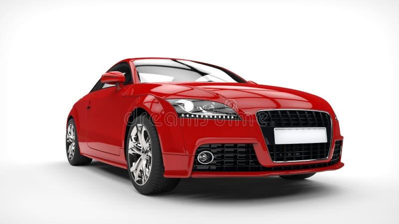 Silny Czerwony sporta samochód obraz royalty free