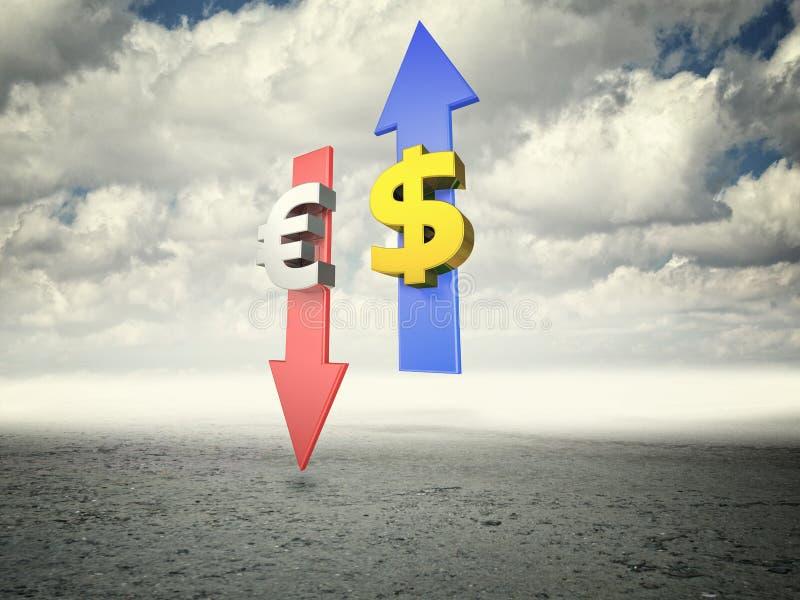 silny dolar ilustracji