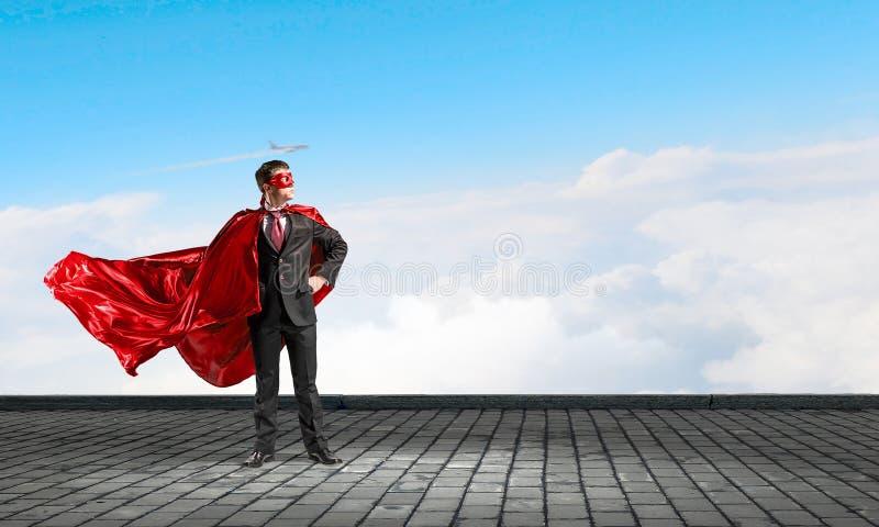 Silny i potężny jako super bohater Mieszani środki zdjęcia royalty free