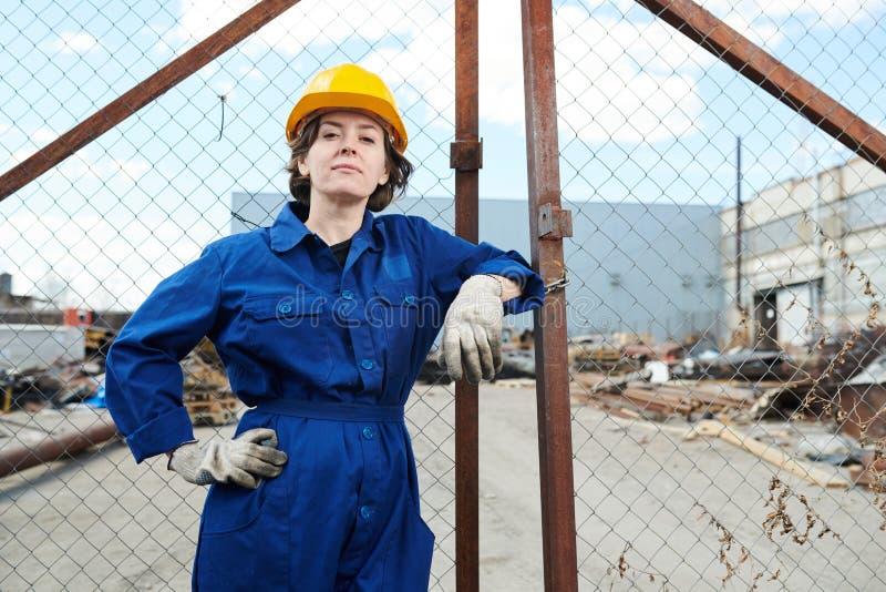 Silny kobieta pracownik zdjęcia stock