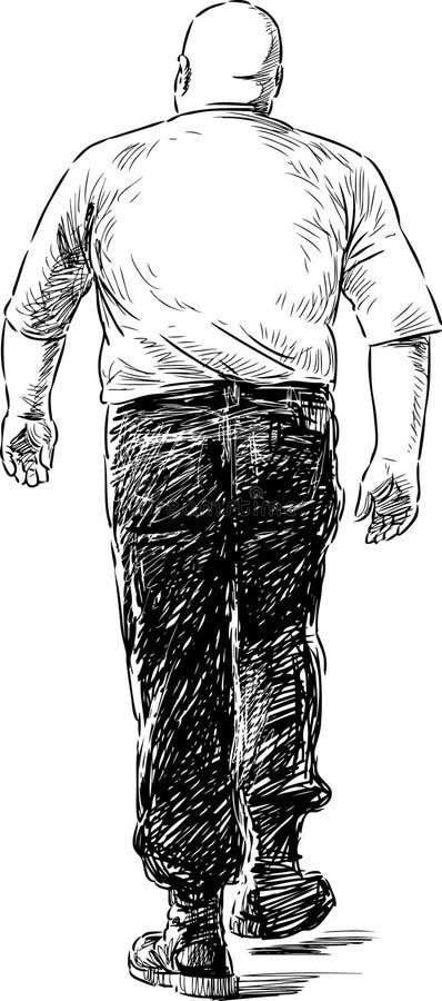 Silny mężczyzna royalty ilustracja