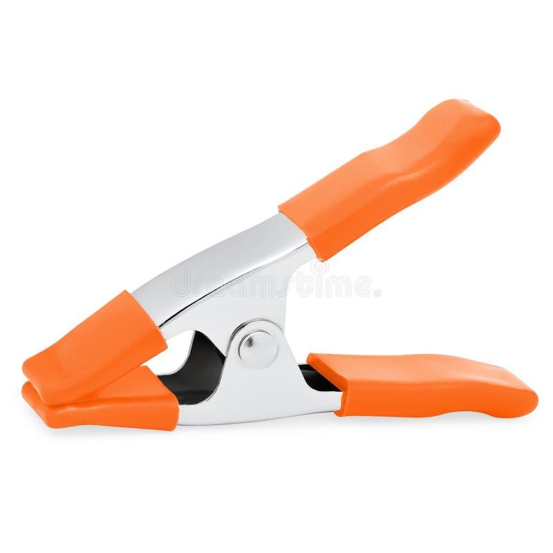 Silny metal Wielo- Zamierza Oszczędnościową klamerkę z Pomarańczowymi rękojeściami fotografia stock