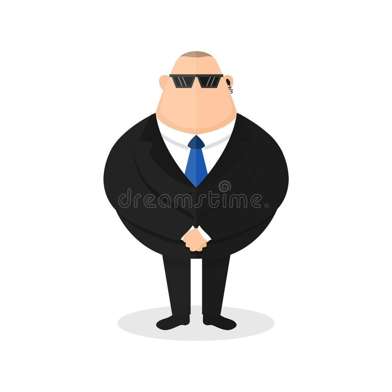Silny ochroniarz, pracownik ochrony wektor ilustracji