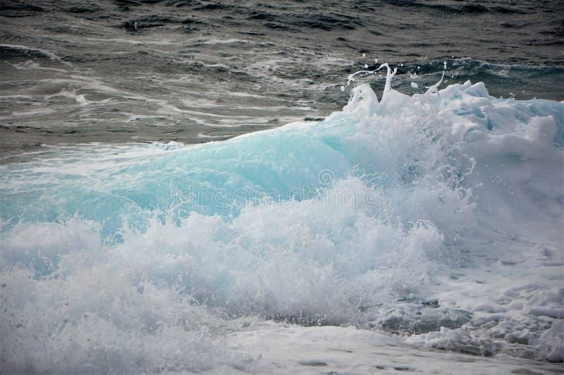 Silny południowy wiatr i fala na Adriatyckim morzu fotografia stock