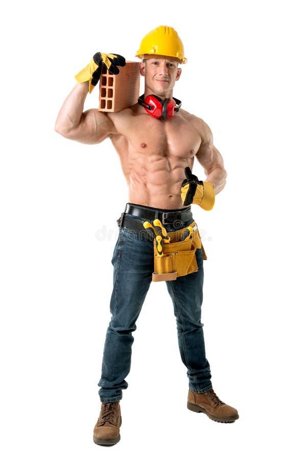 Silny pracownik budowlany obraz stock