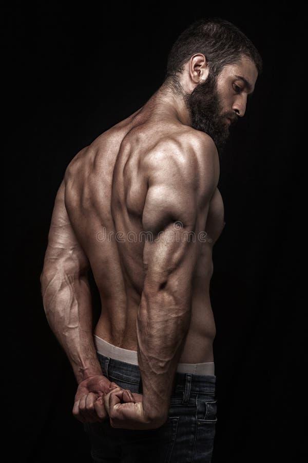 Silny sportowy berdy mężczyzna fotografia stock