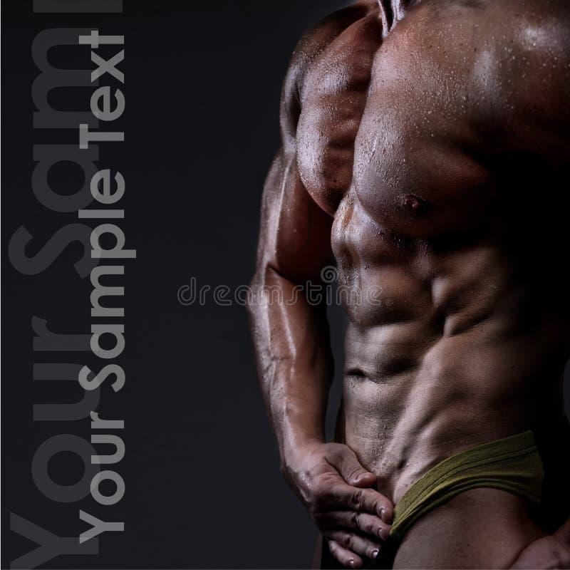 silny sportowy mężczyzna zdjęcia stock