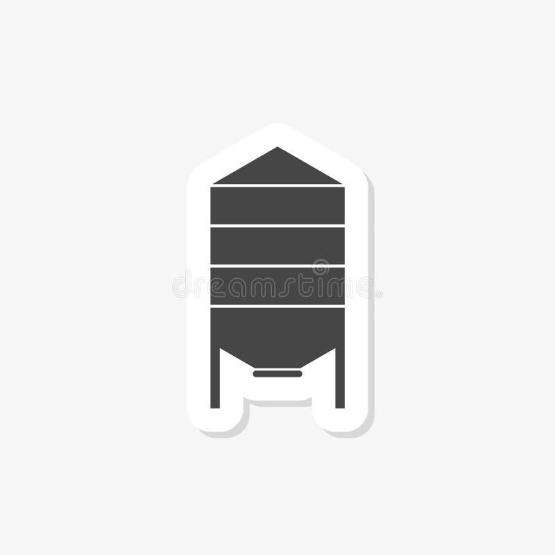 Silo autocolante no estilo de design tradicional Ícone Silo isolado sobre fundo branco ilustração do vetor