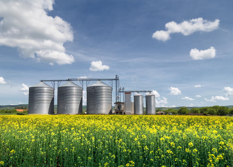 Silo de grain photo stock