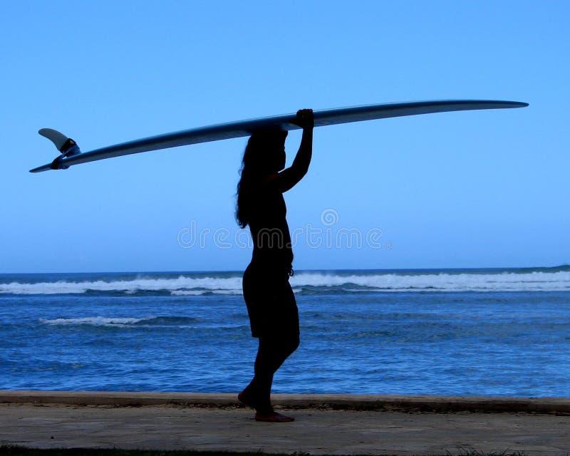 Silo de la persona que practica surf imágenes de archivo libres de regalías