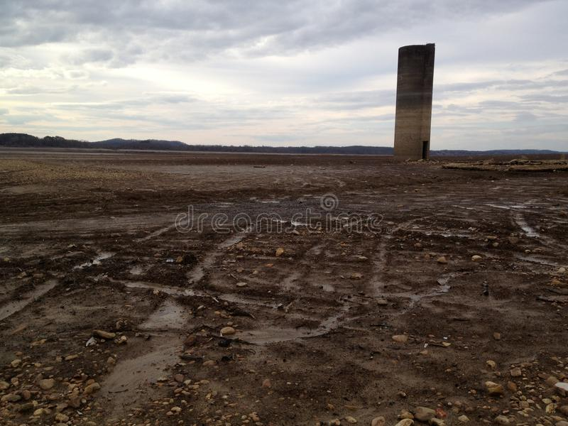 Silo, Douglass Lake, Newport Tennessee photos stock