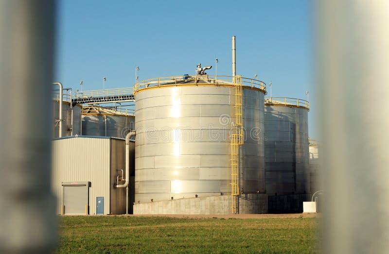 Silo of Ethanol Plant stock images